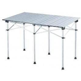 Falttisch aus Aluminium mit zusammenrollbaren Alulamellen