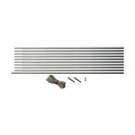 Zeltstange Aluminiumstab für einen kompletten Bogen mehrteilig, 9,5 mm