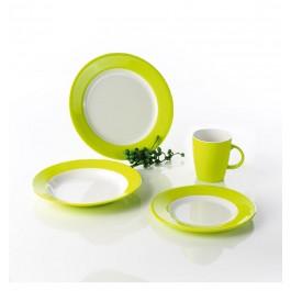 Melamin Camping-Geschirr-Set Lemon Green