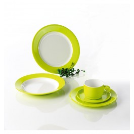 Melamin Camping-Geschirr-Set Lime Green