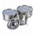 Food-Container Edelstahlbehlter 3er Set