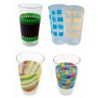 4 Trinkgläser in verschiedenen Designs 0,3 L