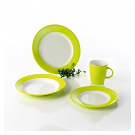 Melamin Camping-Geschirr-Set Lemon Green
