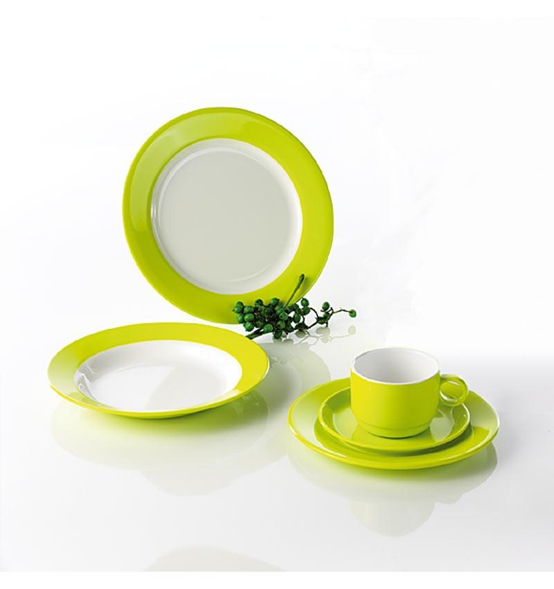 camping geschirr set melamin lemon green. Black Bedroom Furniture Sets. Home Design Ideas